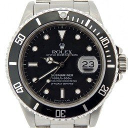 Mens Rolex Stainless Steel Submariner Black  16610 (SKU E894703NNCMT)