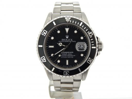 Rolex Stainless Steel Submariner 16610 Black -8