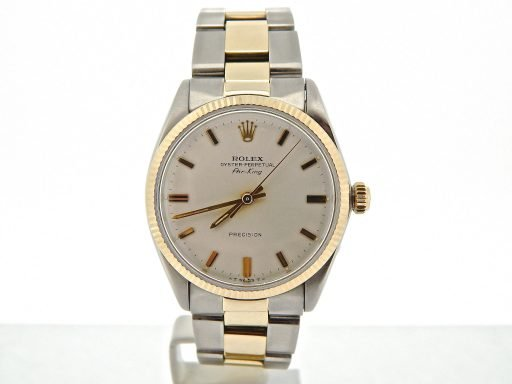 Rolex Two-Tone Air-King 5501 Silver -8
