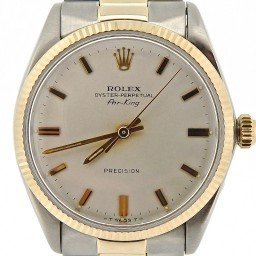 Mens Rolex Two-Tone 14K/SS Air-King Silver  5501 (SKU 1663007NCMT)