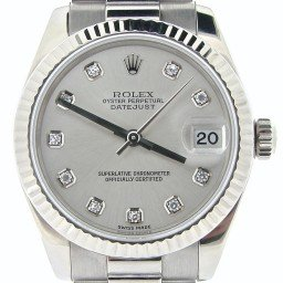 Mid Size Rolex 18K White Gold Datejust President Diamond 178279 (SKU Y904507NMT)
