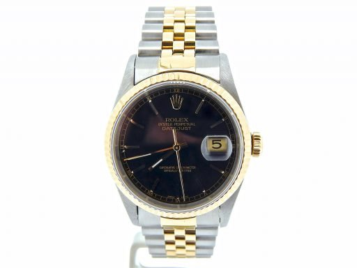 Rolex Two-Tone Datejust 16233 Black -5