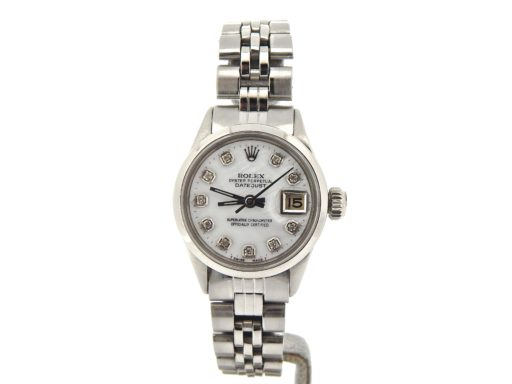 Rolex Stainless Steel Datejust 6516 White MOP Diamond-6