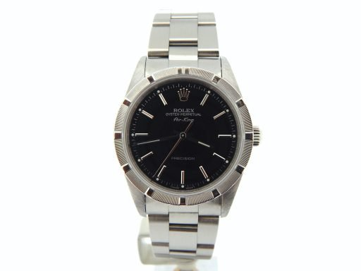 Rolex Stainless Steel Air-King 14010 Black-7