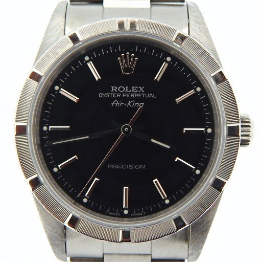 Rolex Stainless Steel Air-King 14010 Black-1