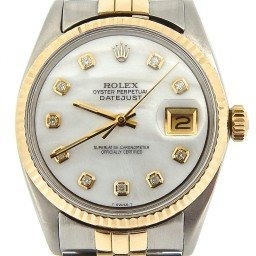 Mens Rolex Two-Tone 14K/SS Datejust White MOP Diamond 1601