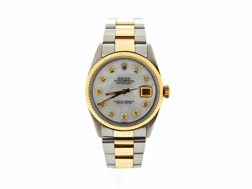Rolex Two-Tone Datejust 1601 White MOP Diamond-7