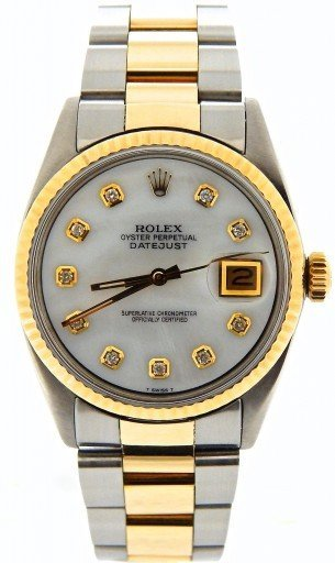 Rolex Two-Tone Datejust 1601 White MOP Diamond-6