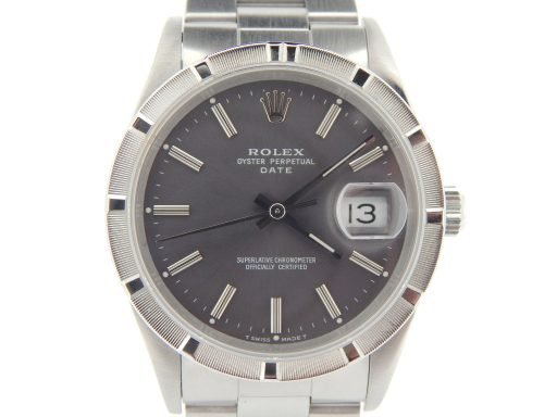 Rolex Stainless Steel Date 15210 Gray, Slate -1