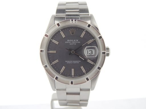 Rolex Stainless Steel Date 15210 Gray, Slate -8