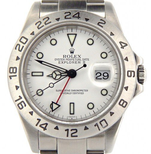 Rolex Stainless Steel Explorer II 16570 White -2