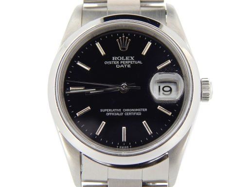 Rolex Stainless Steel Date 15200 Black -1