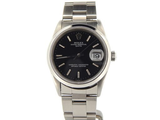 Rolex Stainless Steel Date 15200 Black -9