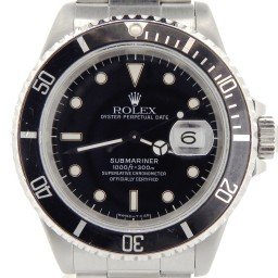 Mens Rolex Stainless Steel Submariner Black  16610 (SKU N318537NNBCMT)