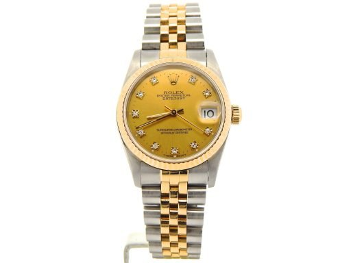 Rolex Two-Tone Datejust 68273 Champagne Diamond-7