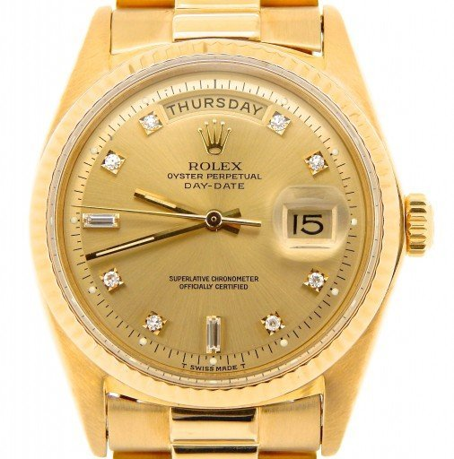 Rolex 18K Yellow Gold Day-Date President 1803 Champagne Diamond-1
