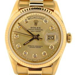 Mens Rolex 18K Gold Day-Date President Champagne Diamond 1803 (SKU 4205521NMT)