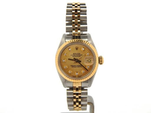 Rolex Two-Tone Datejust 6917 Gold Diamond-8