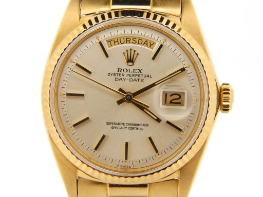 Rolex 18K Yellow Gold Day-Date President 1803 Silver -1