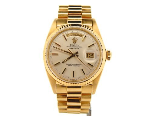 Rolex 18K Yellow Gold Day-Date President 1803 Silver -6