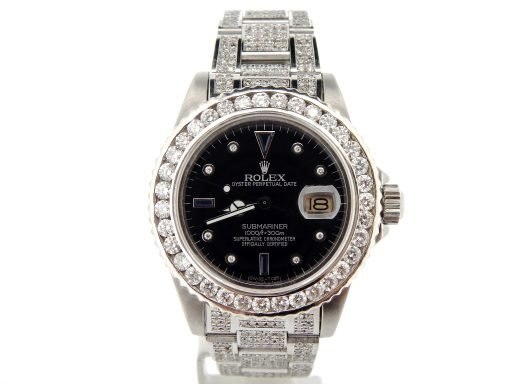 Rolex Stainless Steel Submariner 16610 Black Diamond-5