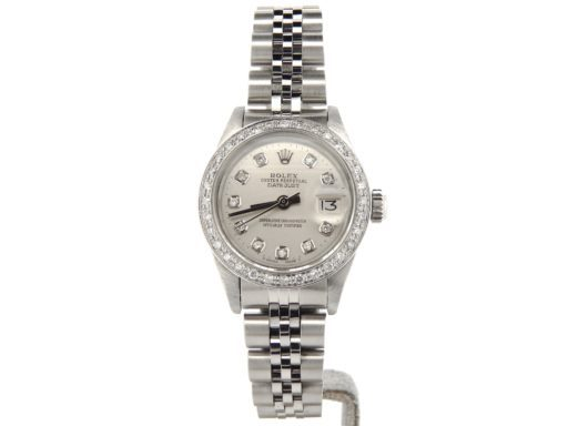 Rolex Stainless Steel Datejust 69174 Silver MOP Diamond-6