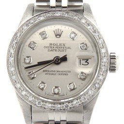 Ladies Rolex Stainless Steel Datejust Silver Diamond (SKU X214930NMT)
