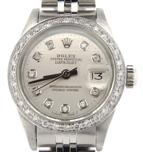 Rolex Stainless Steel Datejust 69174 Silver MOP Diamond-1