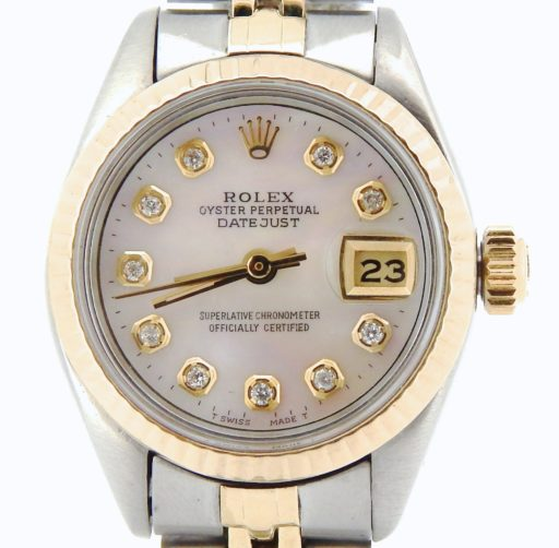 Rolex Two-Tone Datejust 6917 White MOP Diamond-1