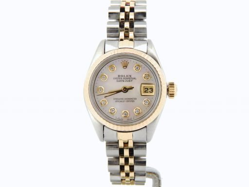 Rolex Two-Tone Datejust 6917 White MOP Diamond-7