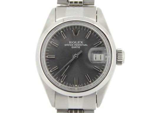 Rolex Stainless Steel Date 6916 Gray, Slate -1