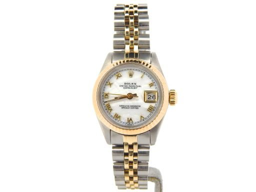 Rolex Two-Tone Datejust 6917 White MOP Roman-6