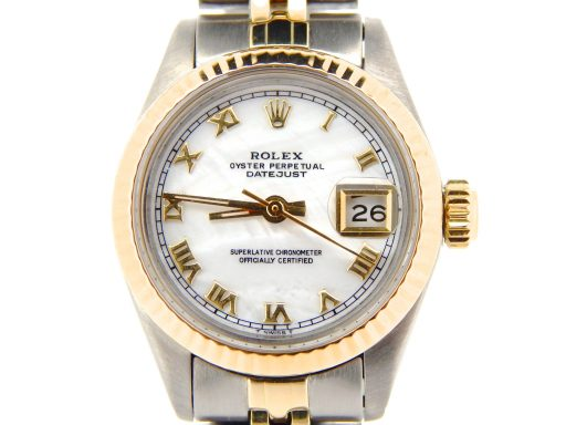 Rolex Two-Tone Datejust 6917 White MOP Roman-1