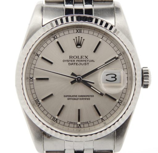 Rolex Stainless Steel Datejust 16234 Silver -1