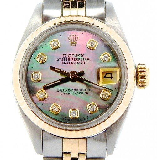 Rolex Two-Tone Datejust 6917 Tahitian MOP Diamond-1