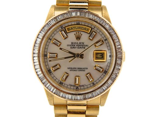 Rolex 18K Yellow Gold Day-Date President 18238 White MOP Diamond-1