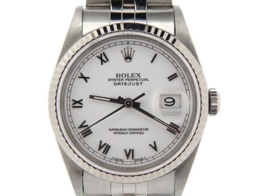 Rolex Stainless Steel Datejust 16234 White Roman-1