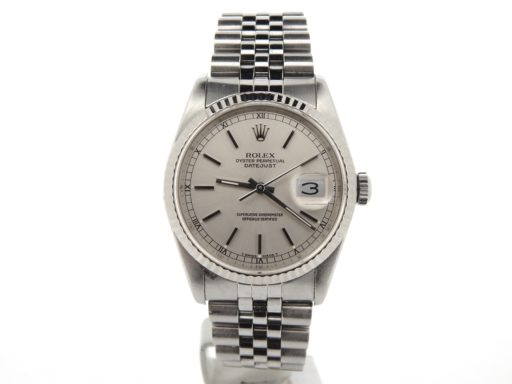Rolex Stainless Steel Datejust 16234 Silver -6