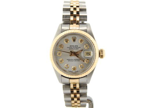 Rolex Two-Tone Datejust 6917 Silver Diamond-6