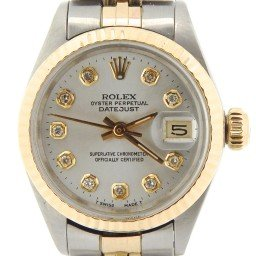 Ladies Rolex Two-Tone 14K/SS Datejust Silver Diamond 6917