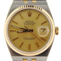 Pre Owned Mens Rolex Two-Tone Oysterquartz Datejust Gold Champagne 17013 (SKU 9067785NM)