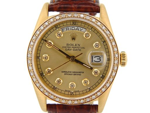 Rolex 18K Yellow Gold Day-Date President 18038 Champagne Diamond-1