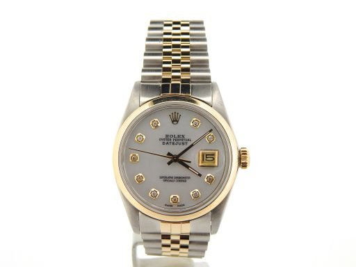 Rolex Two-Tone Datejust 16013 White Diamond-7