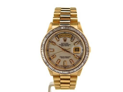 Rolex 18K Yellow Gold Day-Date President 18238 White MOP Diamond-6