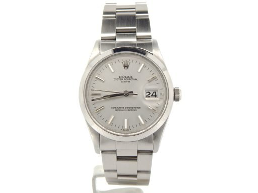 Rolex Stainless Steel Date 15000 Silver -8