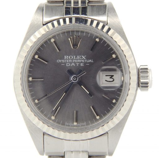 Rolex Stainless Steel Date 6917 Slate -1