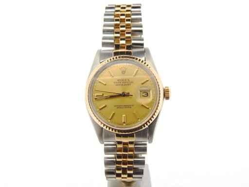 Rolex Two-Tone Datejust 16013 Champagne -8