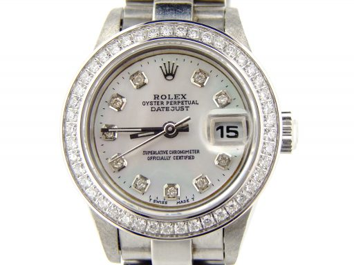 Rolex Stainless Steel Datejust 79240 White MOP Diamond-1