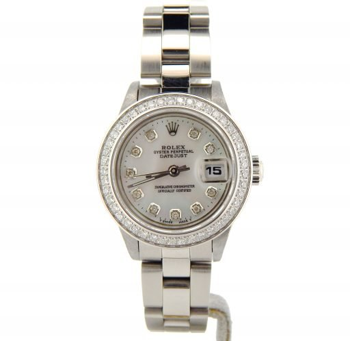Rolex Stainless Steel Datejust 79240 White MOP Diamond-6