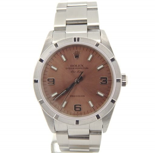 Rolex Stainless Steel Air-King 14010 Salmon-7